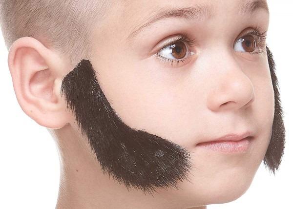 Amazon Com  Mustaches Fake Sideburns, Self Adhesive, Novelty
