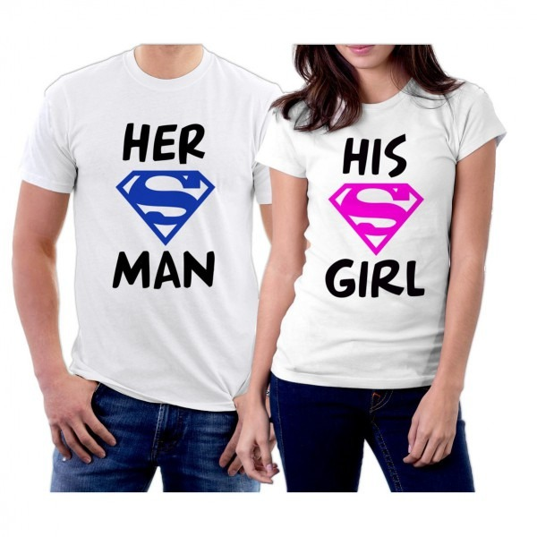 Amazon Com  Matching Her Superman His Supergirl Couple T