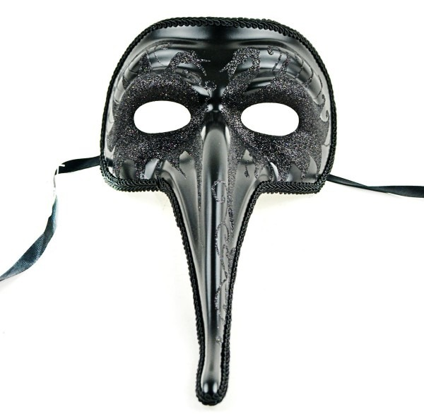 Amazon Com  The Costume Center 13 5  Black Long Nose Half Mask