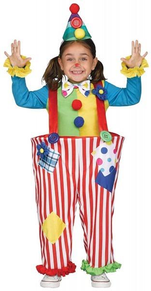 Amazon Com  Uhc Girl's Crazy Clown Outfit Funny Theme Fancy Dress