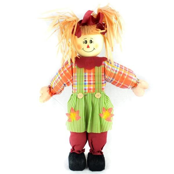 Amazon Com  The Costume Center 24  Orange Girl Scarecrow With