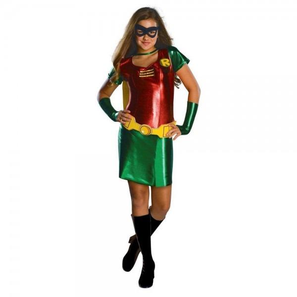 Dc Comics Girls' Robin Halloween Costume M