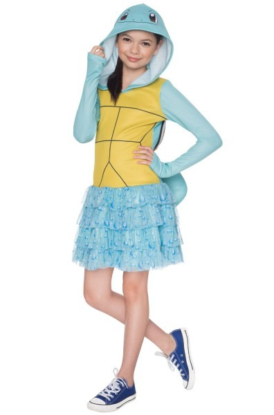 Pokemon Squirtle Hoodie Dress Child Costume Purecostumes Com