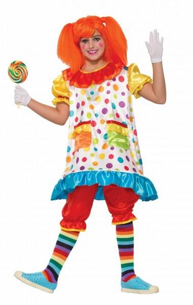Wiggles The Clown Costume Hoop Fancy Dress Child Girls Polka Dots