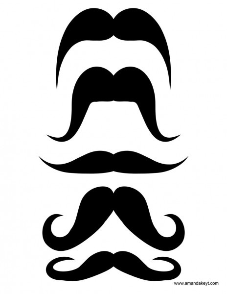 Mustaches From Fiesta Printable Photo Booth Prop Set