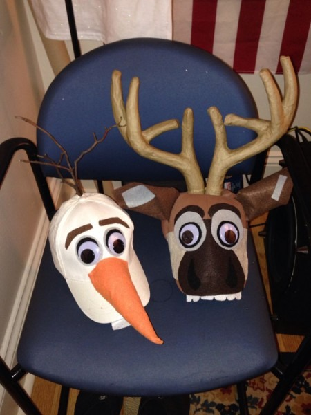 Sven And Olaf Costume Hats! Made These As Part Of My Halloween