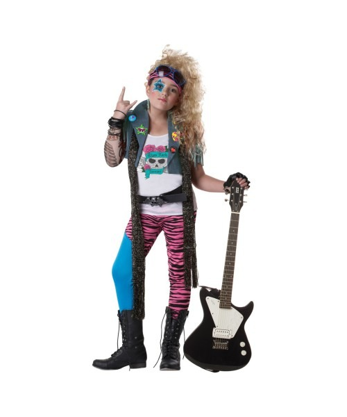 80s Glam Rocker Girl Costume