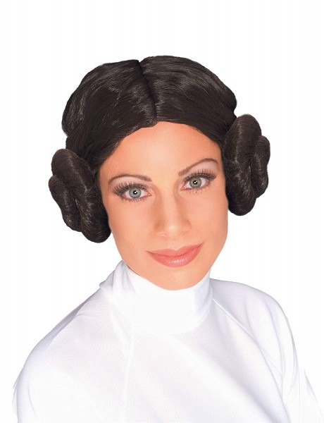 Amazon Com  Star Wars Princess Leia Wig, Brown, One Size  Clothing