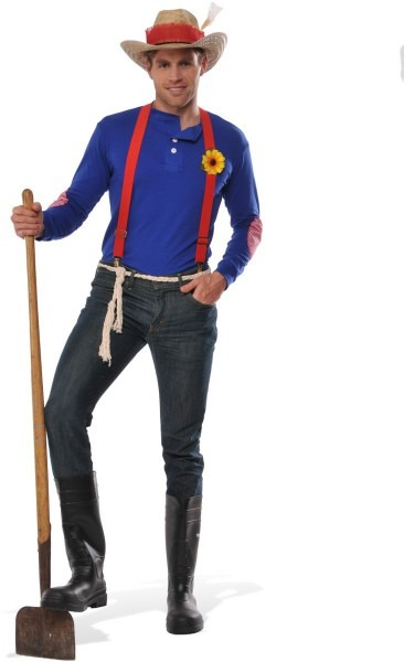 Adult Farmer In The Dell Costume Size Large 820646