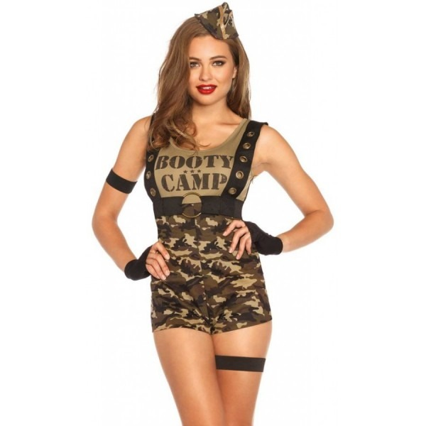 Booty Camp Cutie Womens Soldier Costume