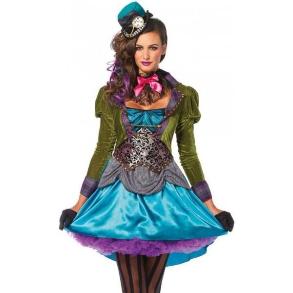 Mad Hatter Deluxe Womens Halloween Costume