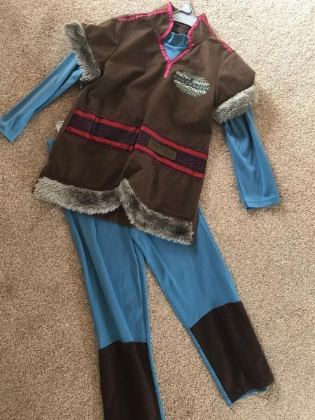 Disney Frozen Kristoff Costume Age 5
