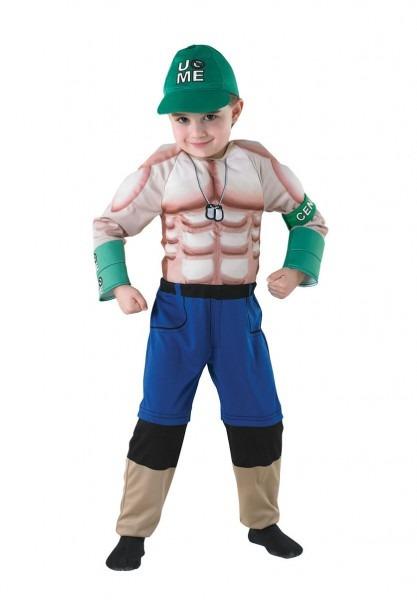 Kids Deluxe John Cena Costume, Wwe Wrestling Fancy Dress