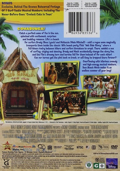 Amazon Com  Teen Beach Movie  Ross Lynch, Maia Mitchell, Grace