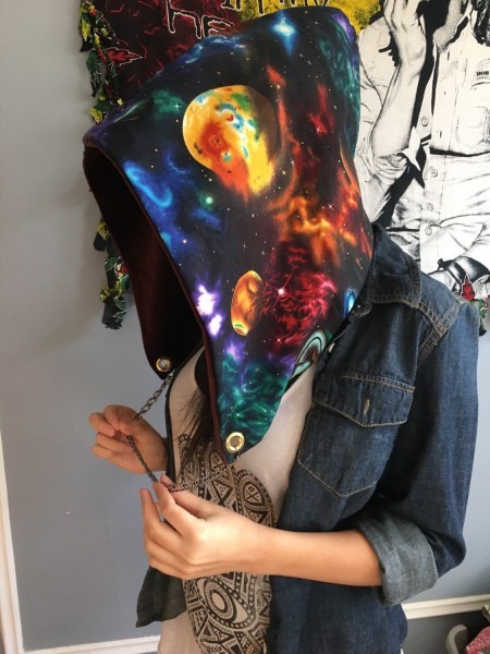 Galaxy Festival Hood ( Reversible With Chain ) Hippie Hood