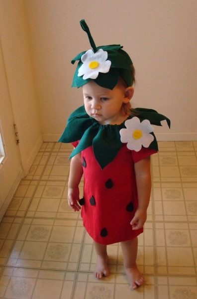 Baby Diy Strawberry Do It Yourself Baby Costume Halloween Costume