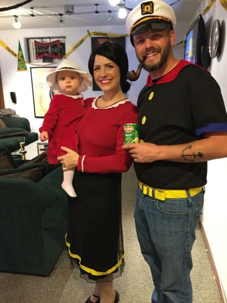 Diy Family Costume  Popeye, Olive Oyl And Sweet Pea! Happy