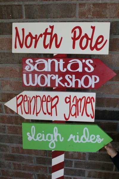 North Pole Yard Sign By Customsignsbyjac On Etsy, $75 00