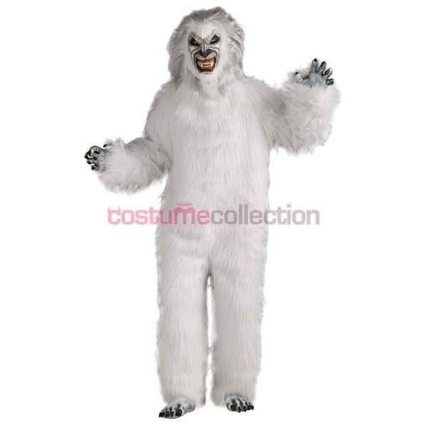 Adults Snow Monster Yeti Outfit Halloween Costume