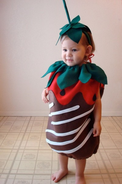 Baby Halloween Costume Chocolate Dipped Strawberry Berry Candy