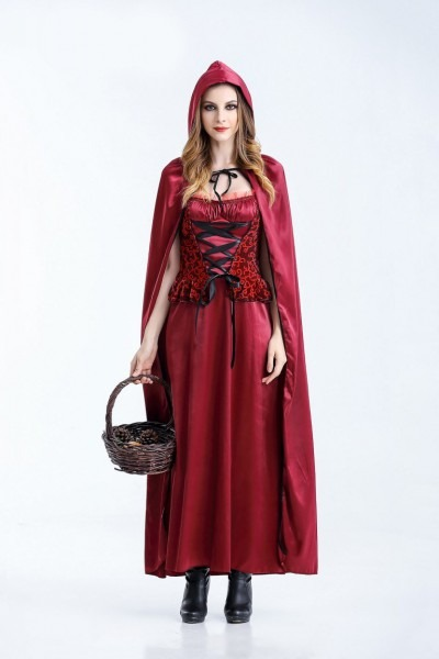 China Adult Halloween Little Red Riding Hood Costumes For Women