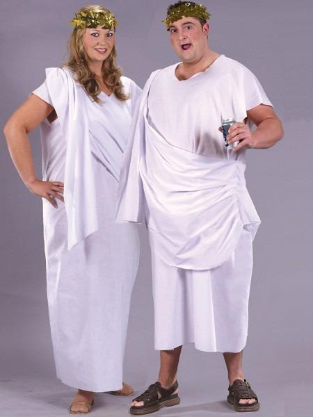 Adult Unisex Plus Size Toga Costume