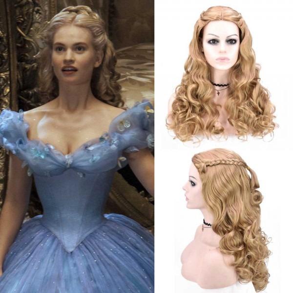 Adult Women Cinderella Wig Moive 2015 Cinderella Cosplay Plait