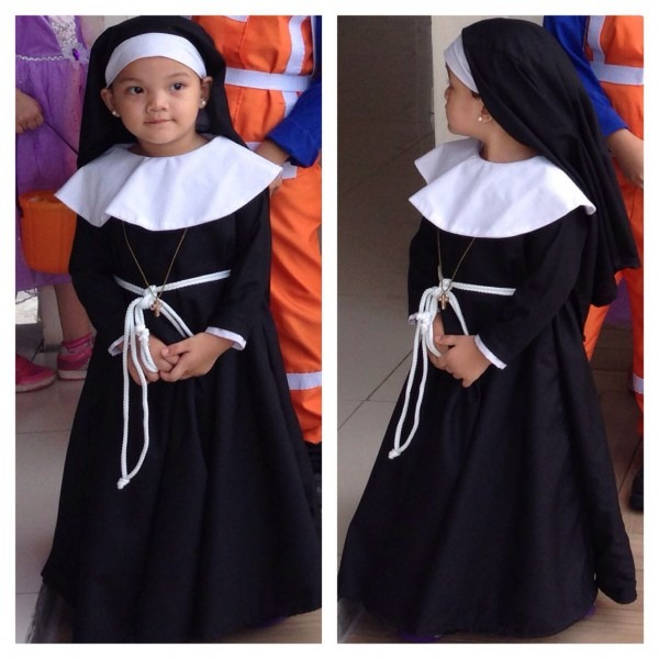Halloween! Baby Girl Nun Costume! Won Best In Costume This Year