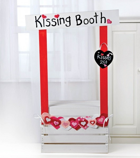 Create A Diy Kissing Booth, Great For Photo Props And Valentine's
