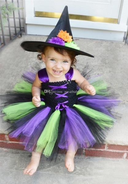 2019 Baby Girls Halloween Dress Wonder Woman Vampire Witch Cosplay