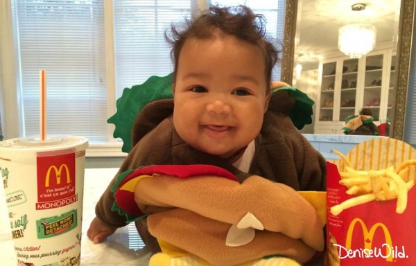 Diy Halloween Hamburger Costume For Babies