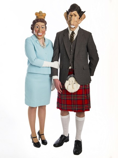 Queen Elizabeth And Prince Charles Couple Costumes