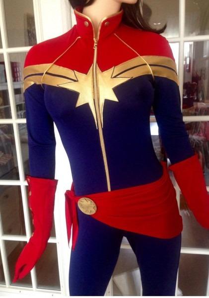 Captain Marvel Superhero Costume  Cosplay,custom Made