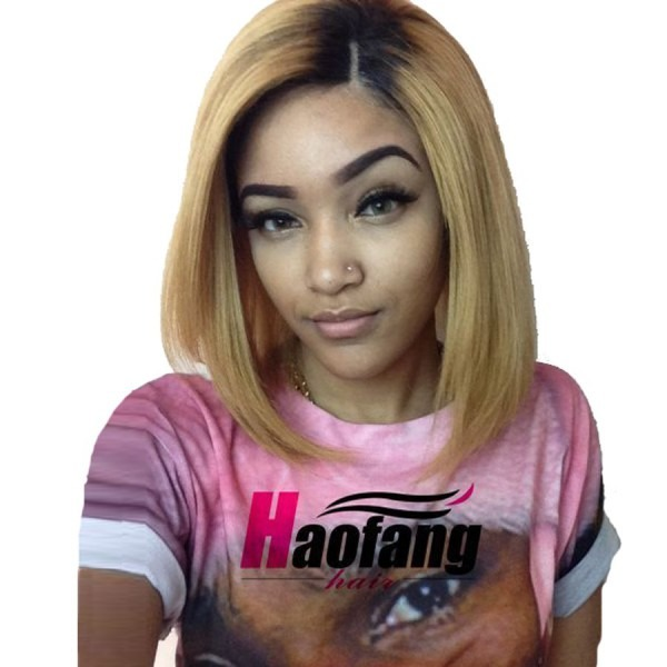 Blonde Human Hair Full Lace Wig With Baby Hair Malaysian Lace