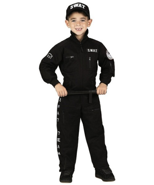 Army Black S W A T  Boys Costume