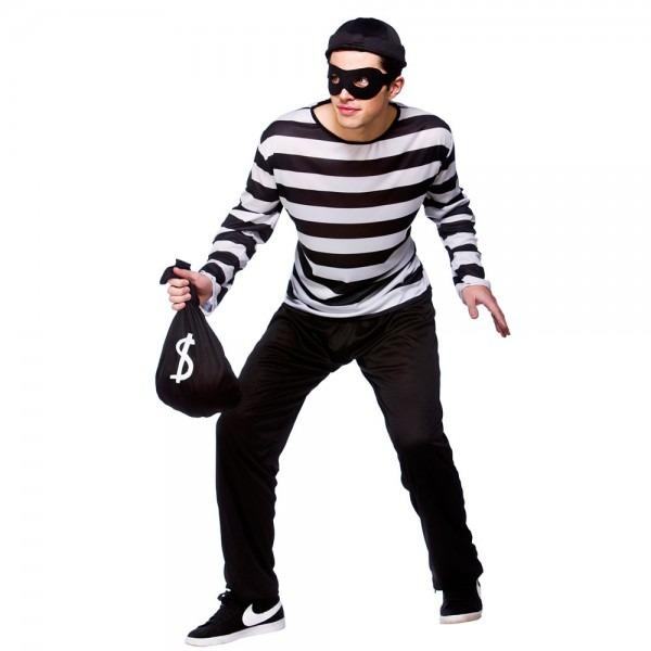 Halloween Costumes Cops & Sentinel Burglar Thief Fancy Dress Cops