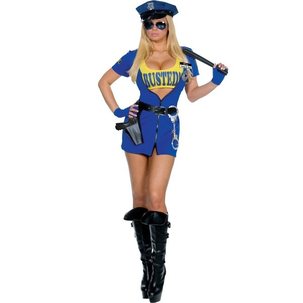 Busted Womens Police Costume
