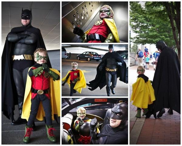 Batman & Robin (father & Son)  I Love This!