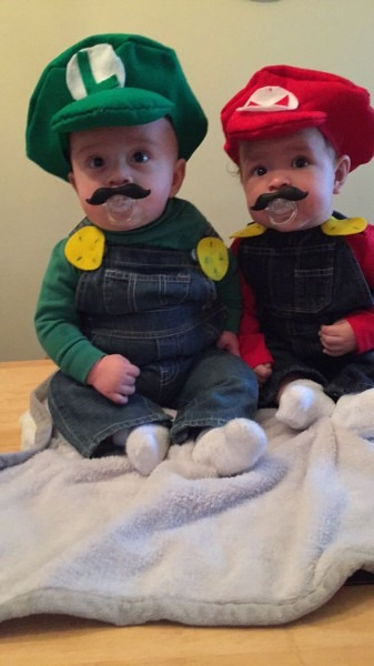 Luigi Child Costume & Adult Child Luigi Super Mario Brothers