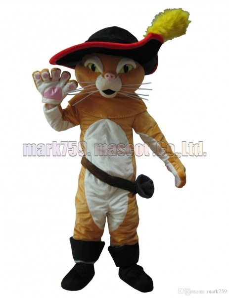 Cat Mascot Costume Adult Size, Puss In Boots Puss Luxurious Plush