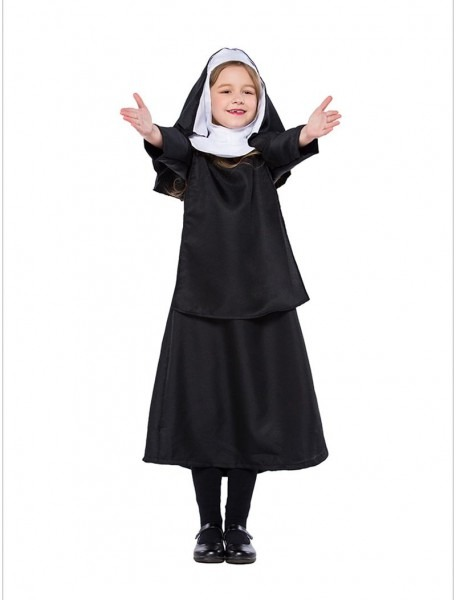 Detail Feedback Questions About Child Black Deluxe Nun Costume
