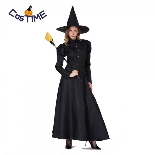 Classic Black Witch Costume Kids Adult Victorian Edwardian Gothic
