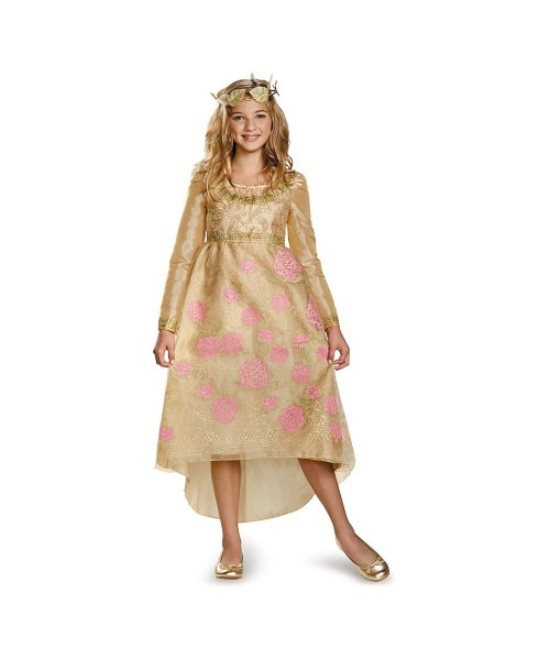 Maleficent Aurora Coronation Gown Girls Costume