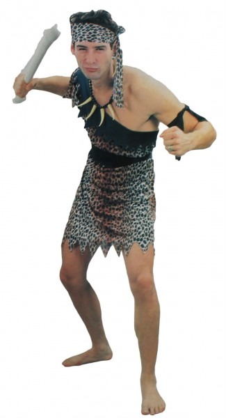 Caveman Costume Set Adult Mens One Size Cave Man Dress Up Cosplay