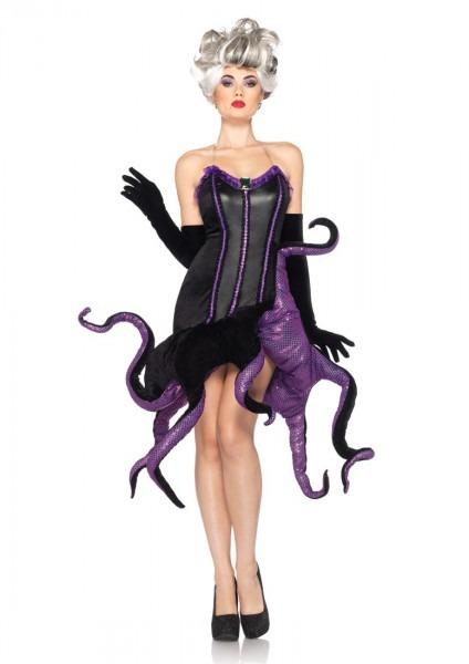 2 Pc Black Purple Ursula Costume @ Amiclubwear Costume Online