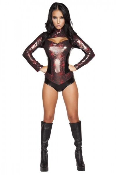 Webbed Warrior Sexy Superhero Costume
