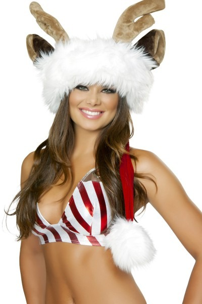 Deluxe Reindeer Santa Hat ,holiday Costumes,holiday Car Costume