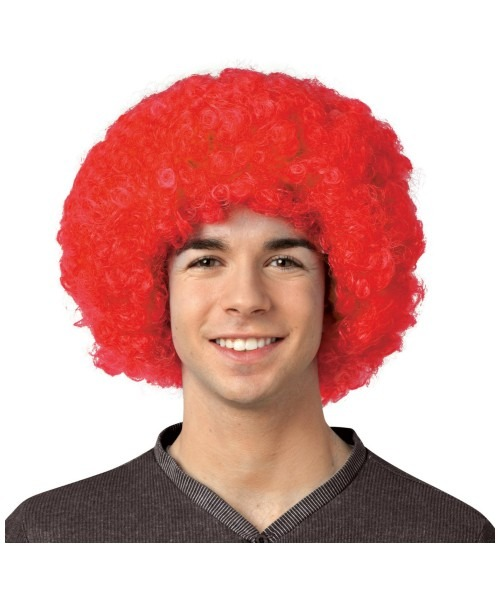 Adult Crayola Red Afro Wig