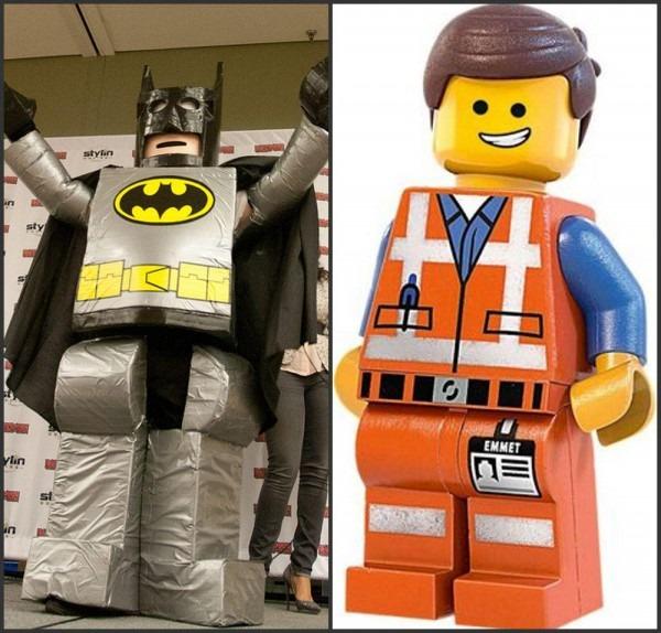 Customized Emmet & Lego Batman Mascot Costume,halloween Costumes