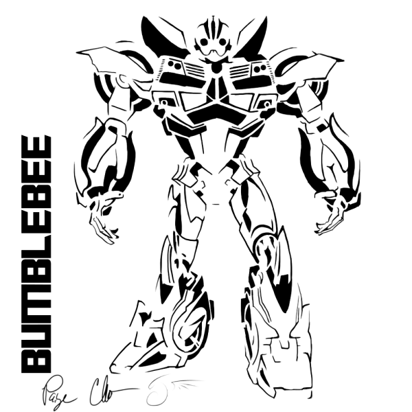 Bumblebee Stencil By Dragongirl508